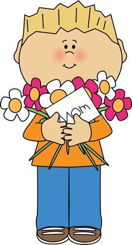 Happy Mother's Day Boy Clip Art