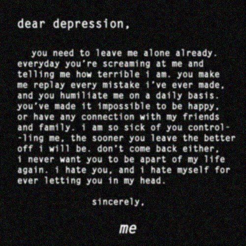 Sad Quotes About Depression: Google Search: Thoughts, Dear
