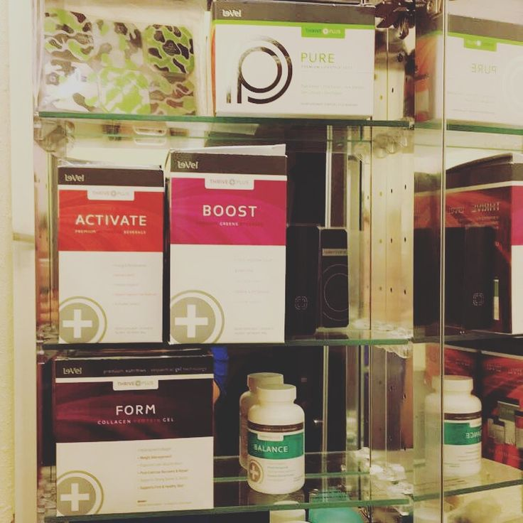 """My new """"medicine"""" cabinet ! Thrive is the only thing I will supplement my body with !"""