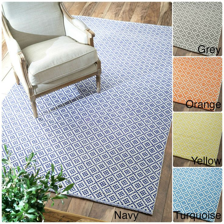 NuLOOM Handmade Flatweave Moroccan Trellis Cotton Rug X   Overstock  Shopping   Great Deals On Nuloom   Rugs