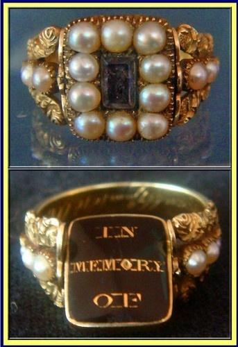 Georgian Swivelling Mourning Ring  Inside the band is engraved HRaban (Ruban?) 0B 4 June 1818 Oct 32.
