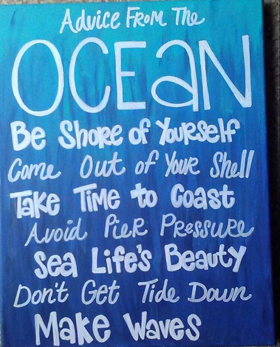 Advice From the Ocean Canvas Painting by TaylorMadebyMarie on Etsy, $30.00