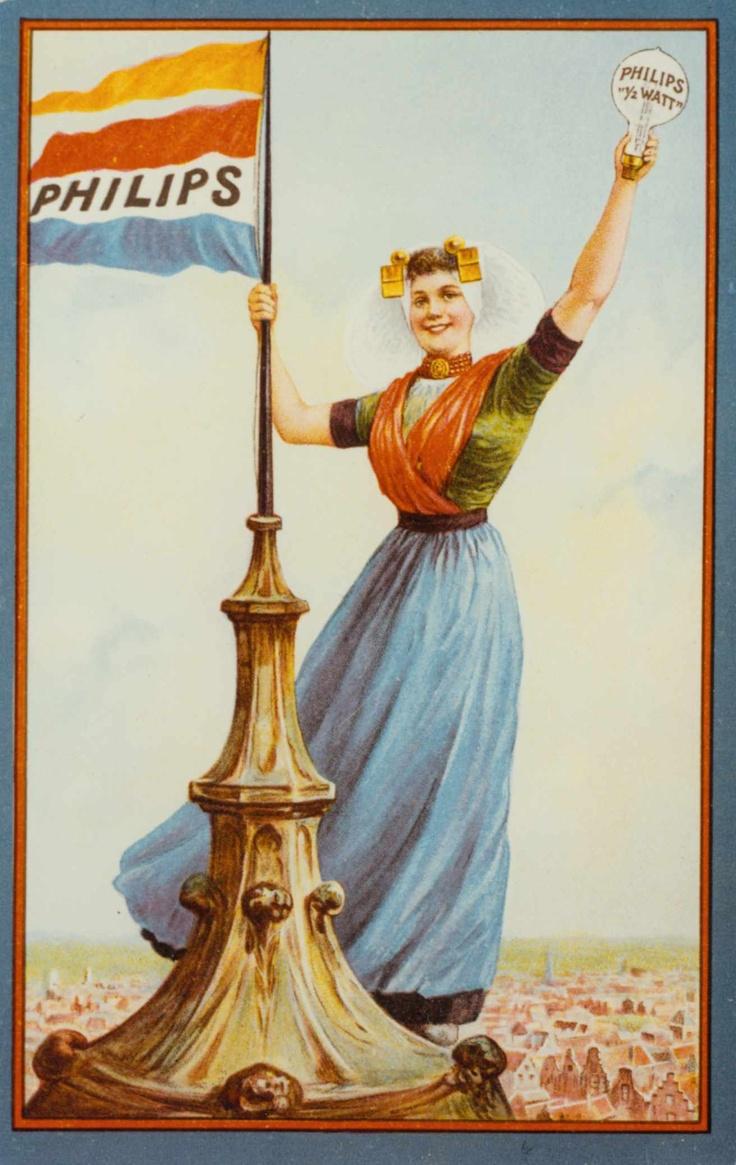 Reclameposter voor een half Watt lamp, ca. 1915  Philipsmuseum PhilipsNL Zuid-Beveland #Zeeland #ZuidBeveland #protestant