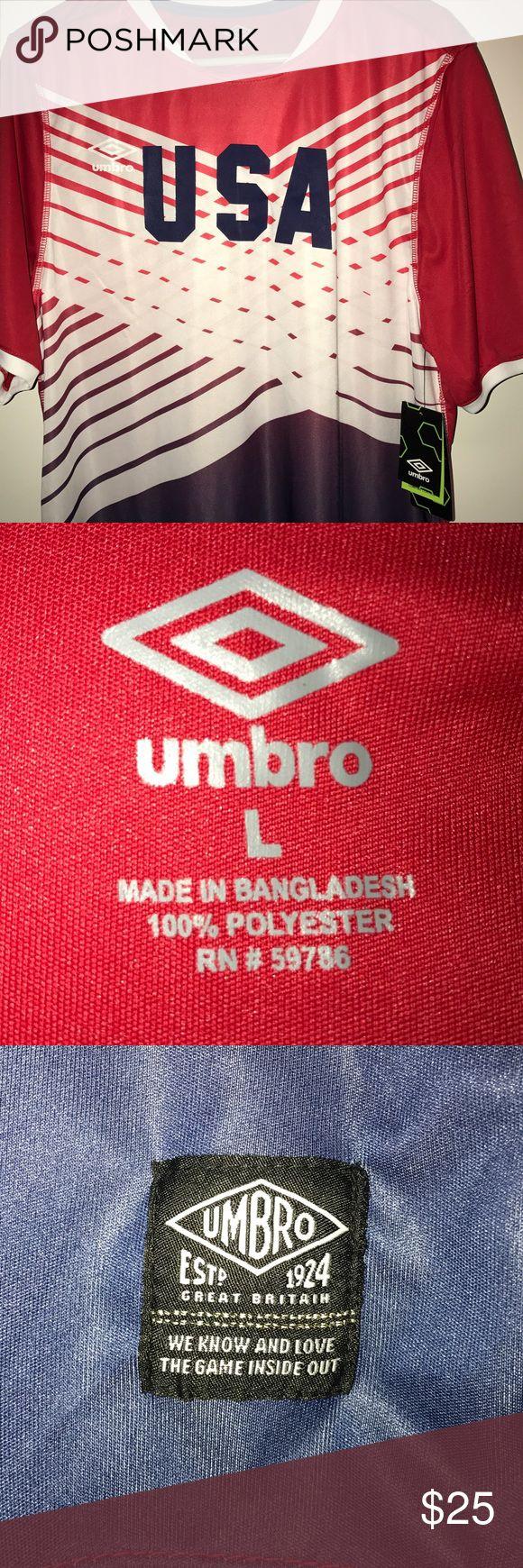 Team USA Soccer jersey NWT Umbro Team USA Soccer jersey. Umbro Shirts Tees - Short Sleeve