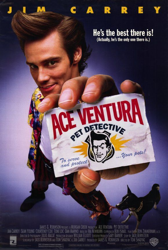 Ace Ventura: Pet Detective (1994) Jim Carrey and Courteney Cox