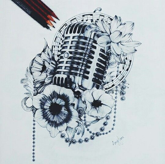 Microphone tattoo. Just because I love singing and music so much.