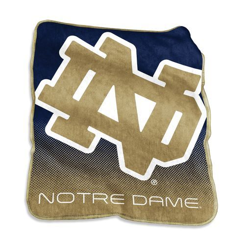 Logo™ University of Notre Dame 50 x 60 Raschel Throw (Navy, Size ) - NCAA Licensed Product, NCAA Novelty at Academy Sports