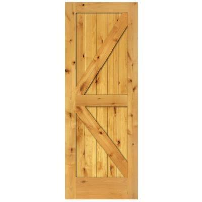 3218 best house projects images on pinterest woodworking sliding steves sons 2 panel barn solid core prefinished natural knotty alder interior door slab planetlyrics Gallery