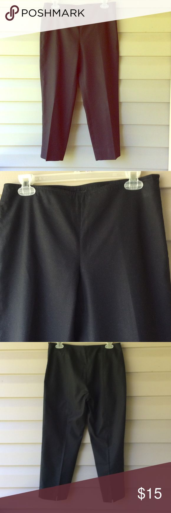 Talbots petite black dress pants Talbots petite black dress pants. No pockets, zip up one side, 6P size. Nice! Excellent condition!!! Talbots Pants Ankle & Cropped