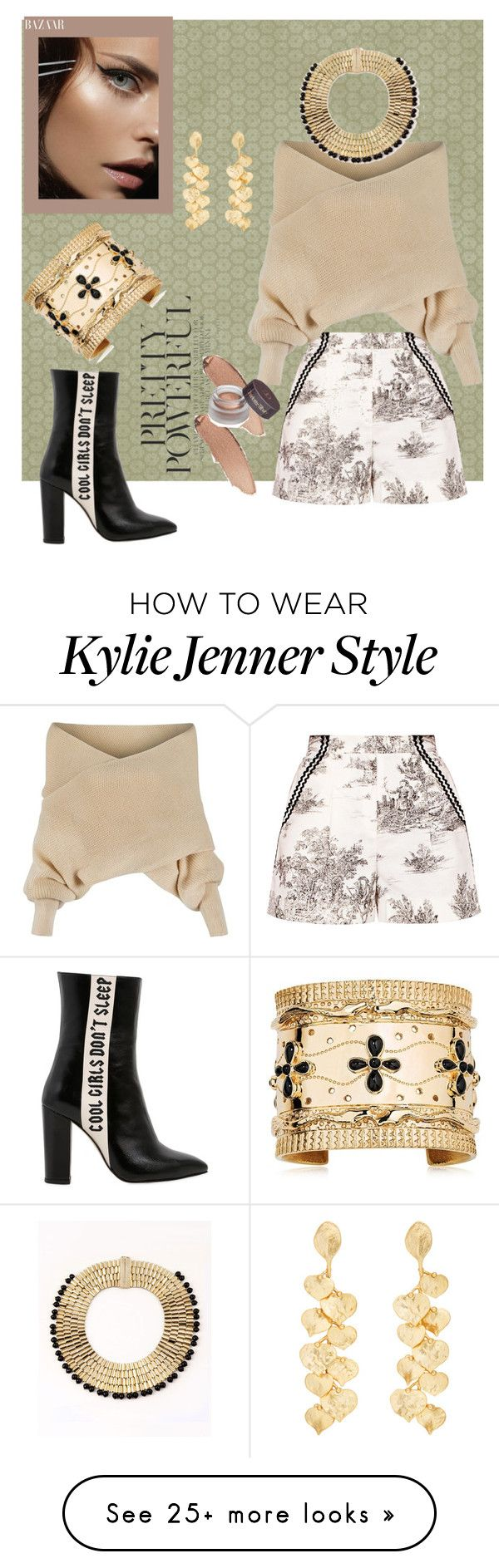 """""""Off the shoulder sweater"""" by blumbeeno on Polyvore featuring WithChic, Havva, Aurélie Bidermann, Kenneth Jay Lane and Rosantica"""