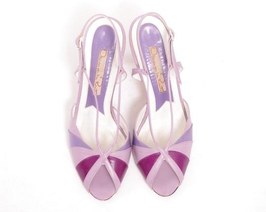 oscar de la renta vintage purple heels