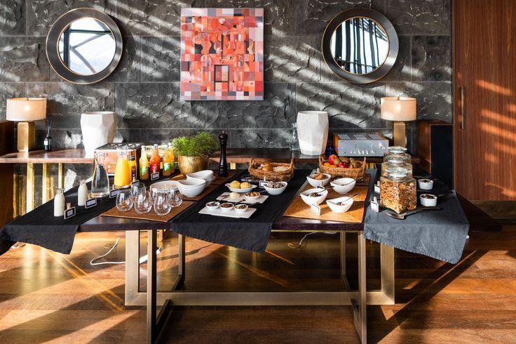 Rich Breakfast Buffet In Room With, Hotel Breakfast Room Furniture