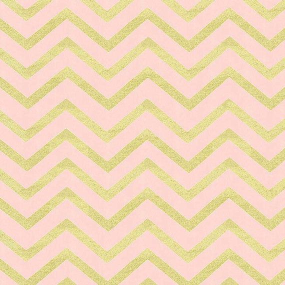 Chevron Fabric Pink Metallic Gold Michael Miller Glitz This Listing Is For Blush Colored Sleek Pearlized From Micheal Millers Collection