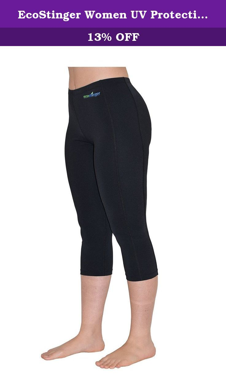 EcoStinger Women UV Protective Clothes Swim Tights Capri Length L Black. suitable for outdoor and indoor sports activities, swimming, cycling. sizes available: XS to XXXL. Ladies 3/4 tights is a new addition to EcoStinger line of sun protection clothing, giving women more choices and say in what best suits their needs. please check our ladies rash guards category for a selection of matching tops. NO treatment or chemicals added to fabric, it is the way fabric is tightly knitted that…