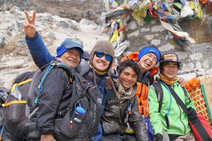 3. Ed's photo of the guide/sherpa team on his Everest Base Camp trip.