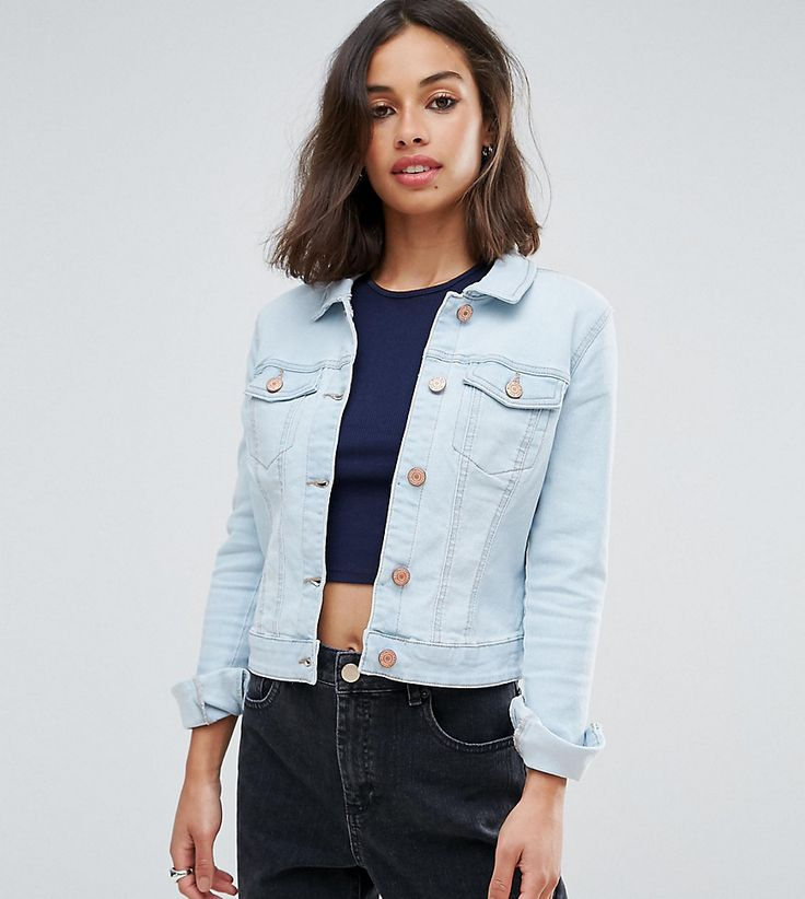 Only petite jeans jacke