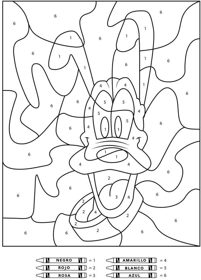 Colorear Con Numeros Dibujos De Disney Con Imagenes Hojas