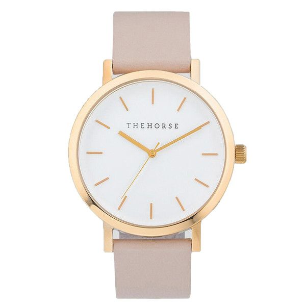 the horse watch nz rose gold blush leather strap