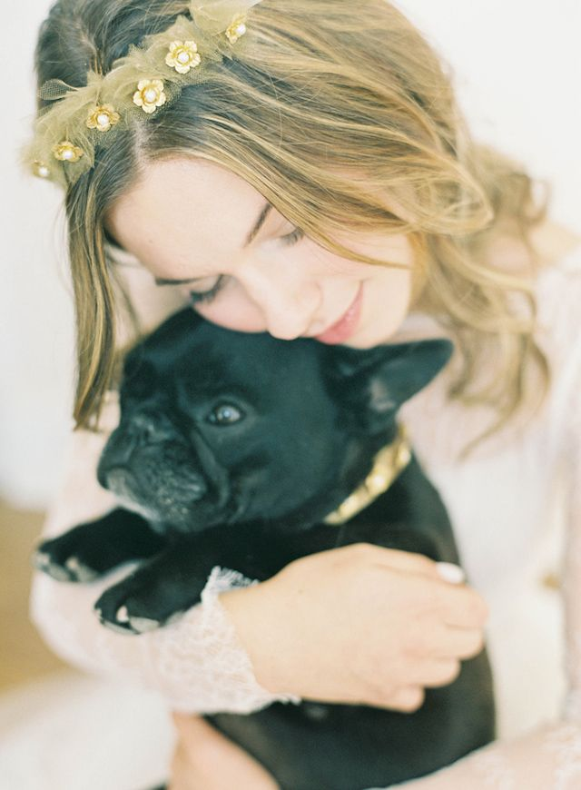 @gatsbyandpepper featuring pepper | Golden flower tulle crown from Hushed Commotion | Jen Huang Photography