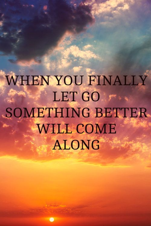 Let go of ANYTHING or ANYONE that brings negativity to your bliss.