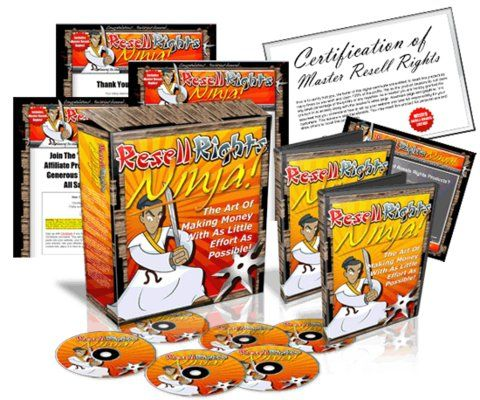 Resell Rights Ninja  Video ebook with Mrr!