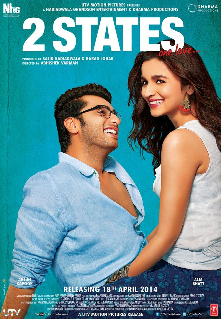 2 States is an upcoming Bollywood drama film is directed by Abhishek Varman. The film is based on the 2009 novel of the same name which is written by Chetan ...