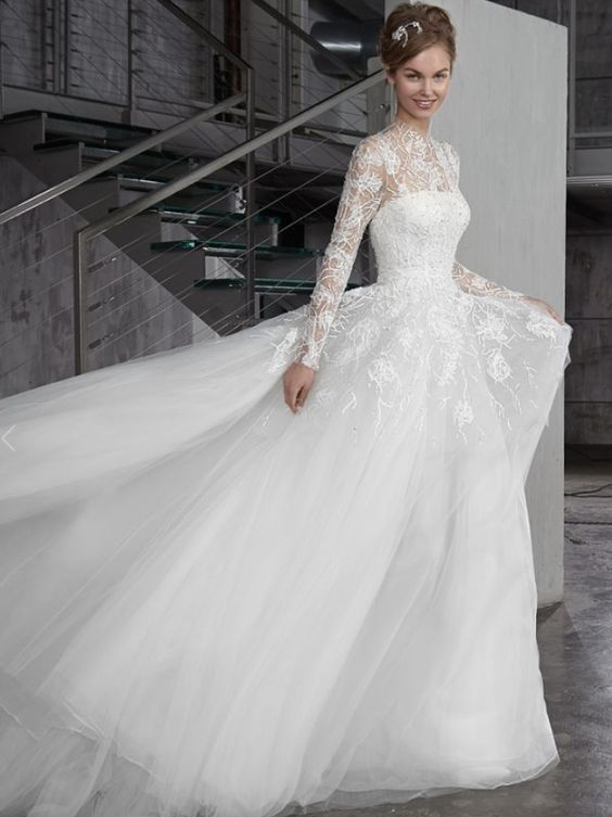 Featured Dress: Peter Langner; Wedding dress idea.
