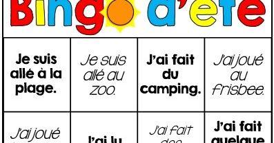 Voici un bingo d'été gratuit  qui a pour but de motiver  votre enfant à essayer de nouvelles choses et de s'amuser pendant les vacanc...