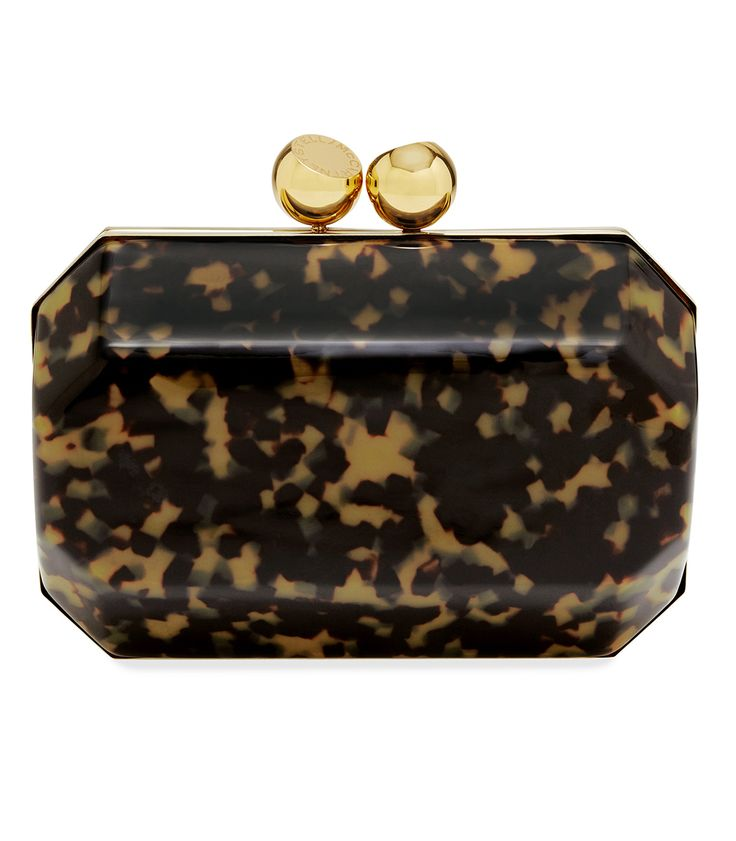 Stella McCartney Plexi Tortoise Shell Box Clutch