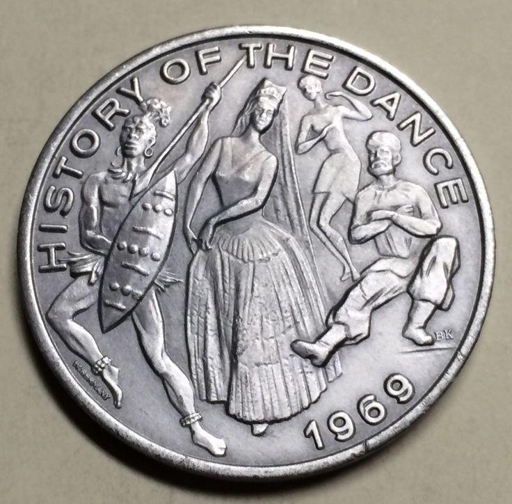 1969 Brushed Aluminum 12 Gauge LR History Of The Dance KA Mardi Gras Doubloon | Collectibles, Holiday & Seasonal, Mardi Gras | eBay!