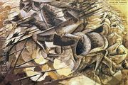 The Charge of the Lancers 1915  by Umberto Boccioni