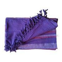 Grande Tenture Kérala plaid couvre-lit Violet Améthyste Prune