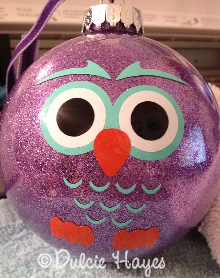 owl ornament;; OMG SO MAKING THESE!!!                                                                                                                                                                                 More