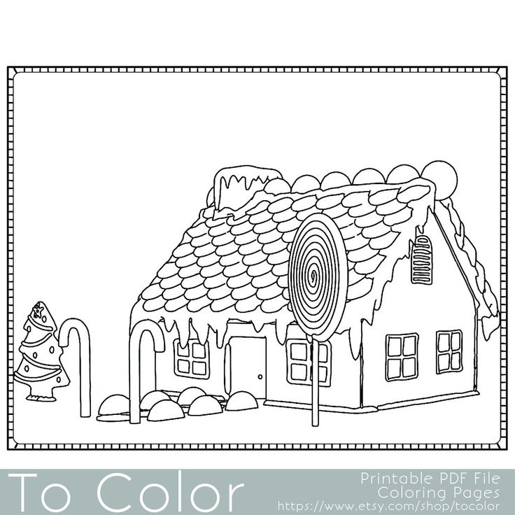pertzborn gingerbread house coloring pages - photo#5