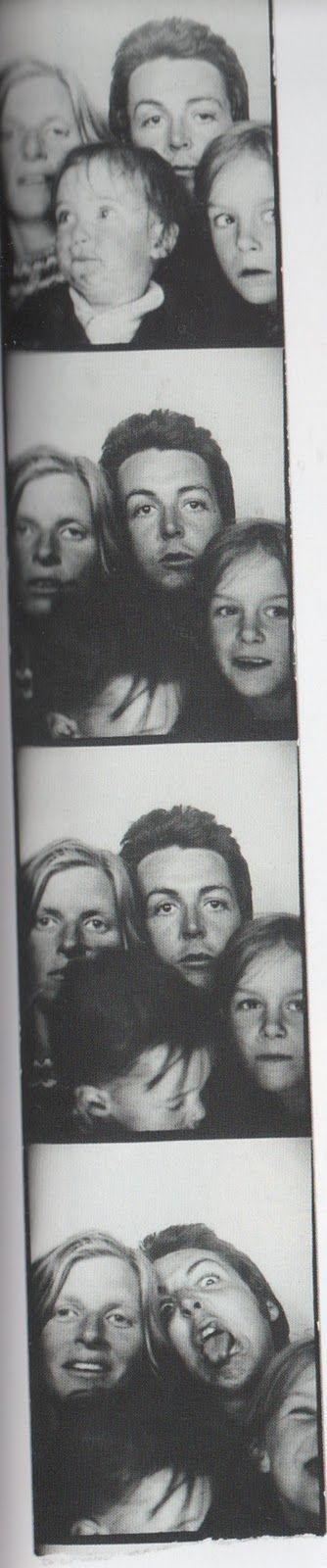 Paul and Linda McCartney and family. Vintage Photo Booth.