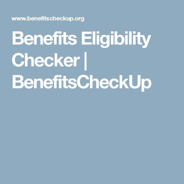 Benefits Eligibility Checker   BenefitsCheckUp