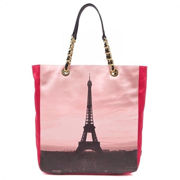 Moschino Paris printed tote