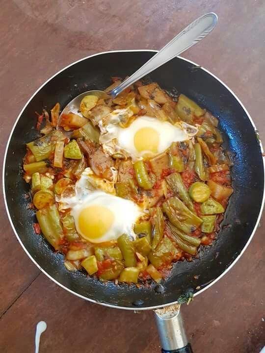 Φασολάκια με αυγά