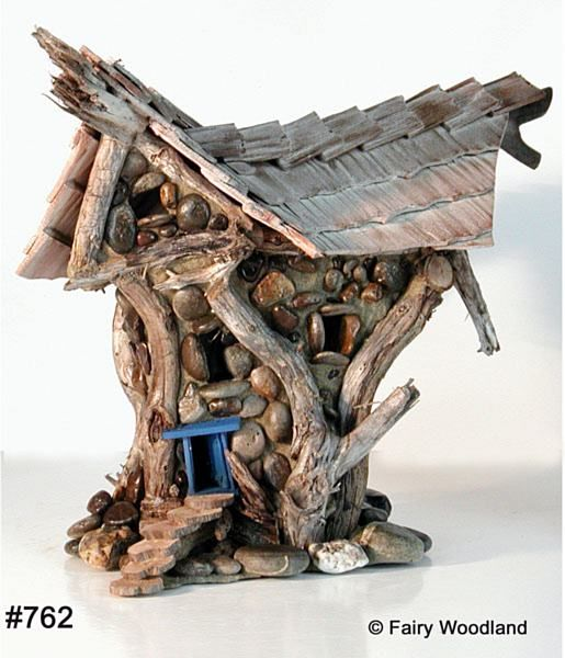 Fairy Houses by Fairy Woodland  Great steps and gnarly wood.