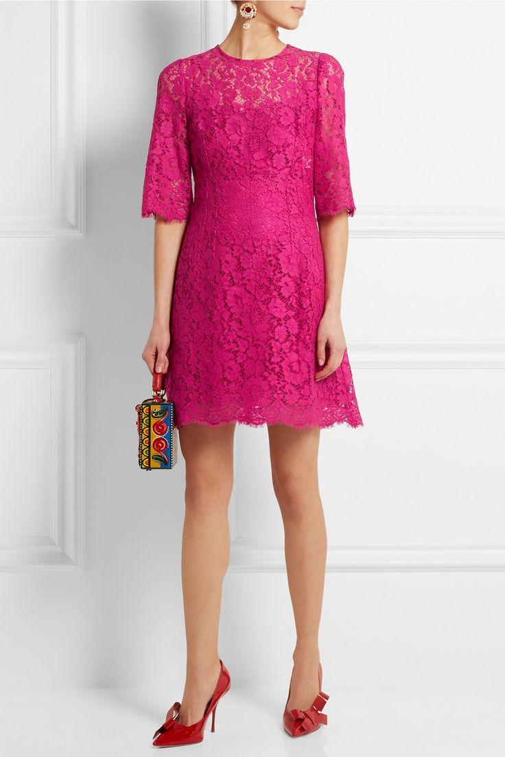 Dolce & Gabbana | Floral-lace mini dress | NET-A-PORTER.COM