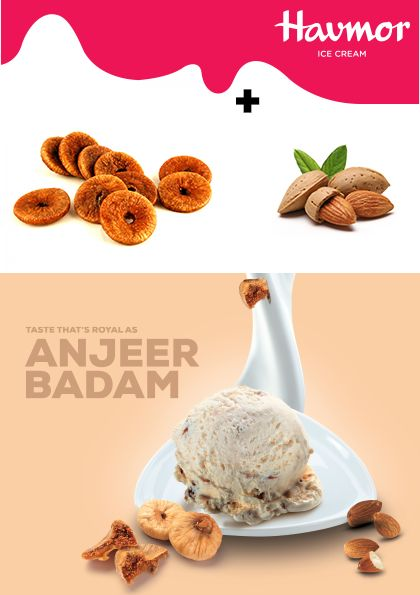 Dry fruits Anjeer & Badam join hands to give you the royal Flavour Of The Month, Anjeer  Badam Ice Cream!