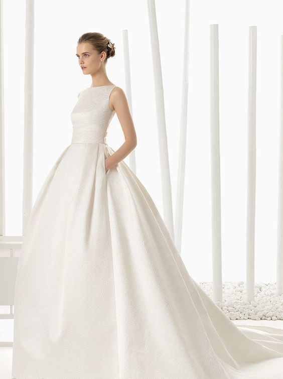 Bateau Neckline Wedding For The Chic Bride