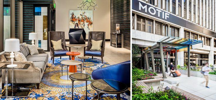 Motif | hotel interior design, hotel design industry, modern interior design | #moderninteriorhotel #designinspiration #contractfurniture | More: https://www.brabbucontract.com/projects