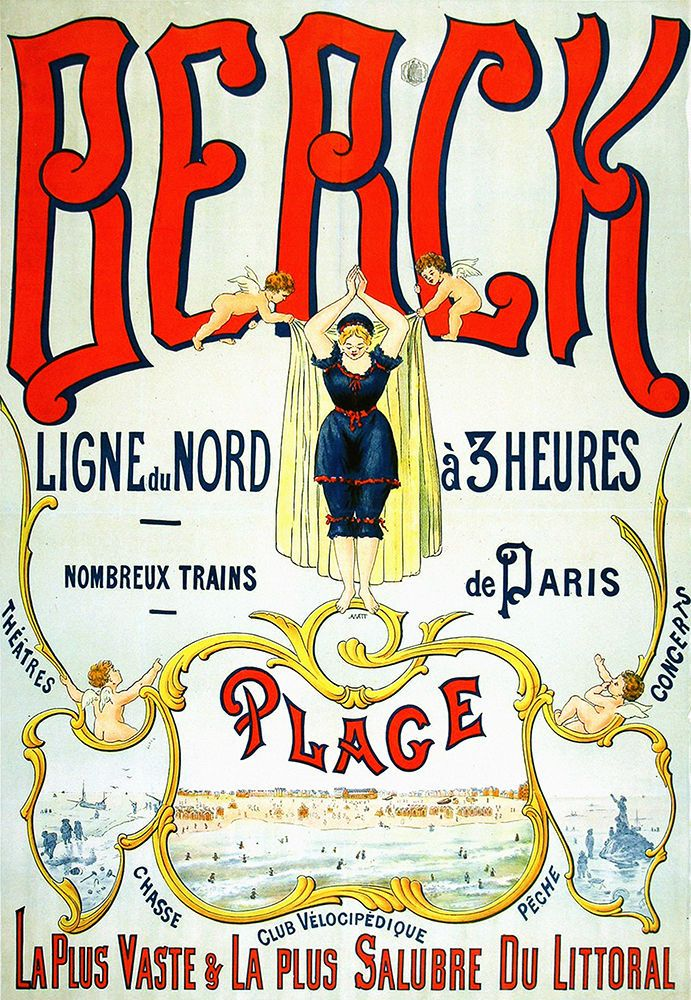 Affiche chemin de fer du nord - Berck