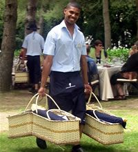 I will never forget the picnic at Boschendal wine estate