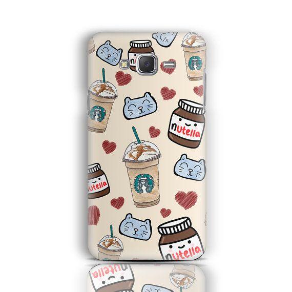 Nutella Samsung Galaxy J5 caso Samsung Galaxy S6 S5 S4 por CaseLoco