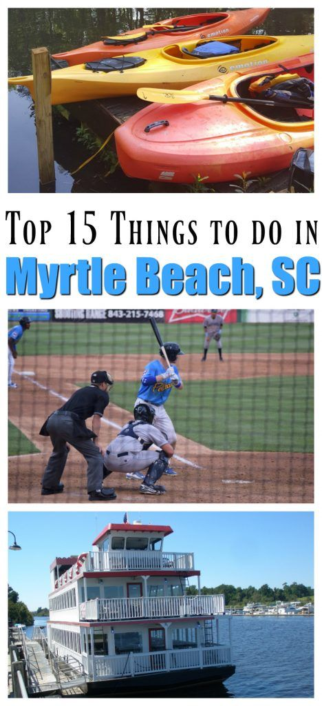 Myrtle Beach is more than just a place to catch some rays. It's a family destination that is jam-packed with great attractions. Whether your family loves baseball, a riverboat, kayaking, or music, there's something for everyone.  via @winonarogers
