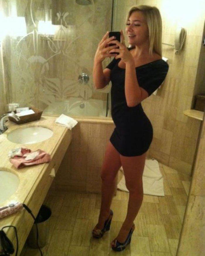 Sexy Selfie Mirror Pics 6  Great Legs  Sexy, Dresses -2819