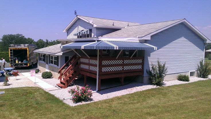 Mitered Porch Awnings are a great way to extend the