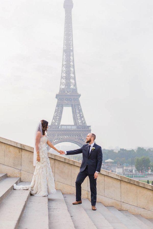 Eiffel Tower Wedding Ceremony Location Image By Lomansa Photography